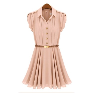 lightpink chiffon dress
