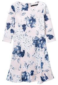 floral rufflehem dress