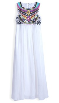 whitesleevelesschiffondress