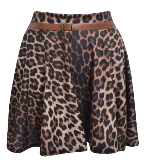 animalprint skater skirt