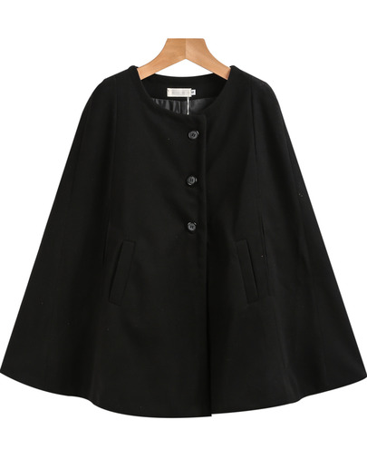 Petite single breasted Cape coat