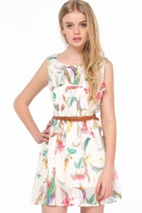 apricotsleeveless floral