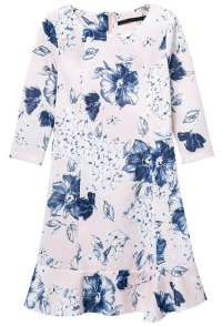 floral rufflehem dress