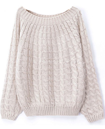 Petie Loose fit Cable jumper