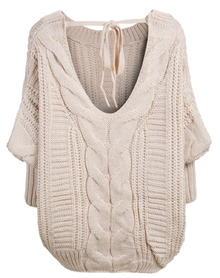 backless cable knit jumper