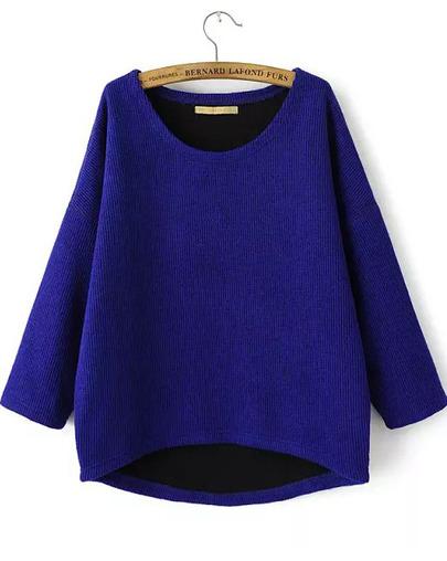 petite half knit jumper