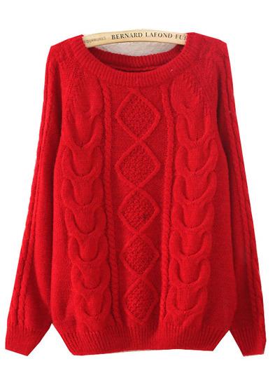 Petite red jumper
