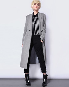 long boyfriend coat grey