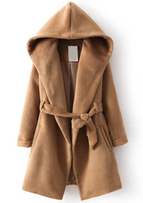 The Hooded Camel Coat