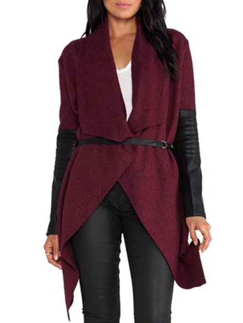 drap front coat