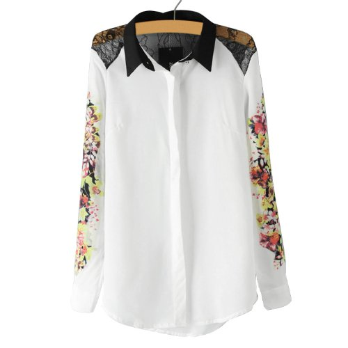 lapel collar blouse