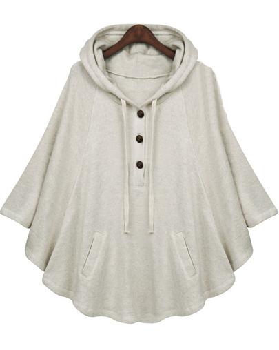Petite casual cape coat