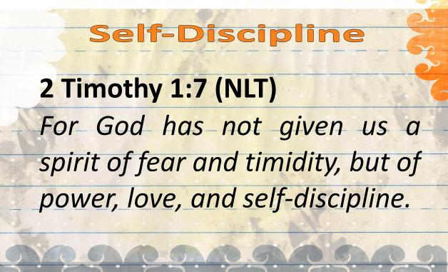 BVD-Self-Discipline