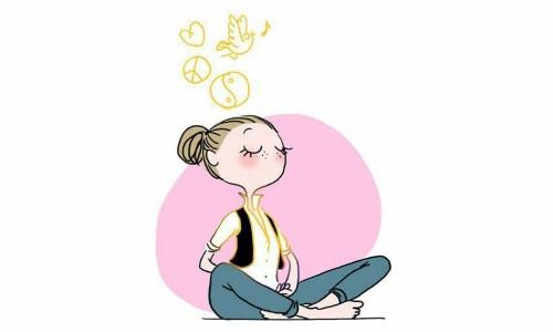 lady meditating